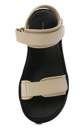 Женские кожаные сандалии THE ROW кремвого цвета, арт. F1206-N60 | Фото 5 (Подошва: Платформа; Материал внутренний: Натуральная кожа)
