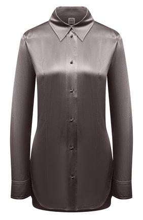 Женская шелковая рубашка TOTÊME серого цвета, арт. 213-725-719 | Фото 1