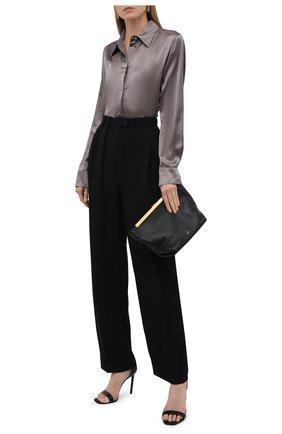 Женская шелковая рубашка TOTÊME серого цвета, арт. 213-725-719 | Фото 2