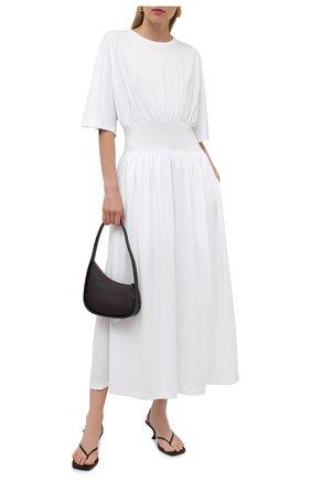 Женское хлопковое платье TOTÊME белого цвета, арт. 213-654-770 | Фото 2