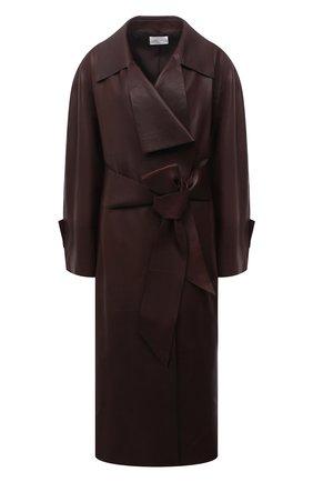 Женское кожаное пальто THE ROW темно-коричневого цвета, арт. 5601L211 | Фото 1