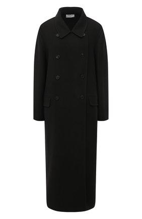 Женское пальто из кашемира и шерсти THE ROW темно-зеленого цвета, арт. 5602W2033 | Фото 1 (Материал внешний: Шерсть, Кашемир; Рукава: Длинные; Стили: Кэжуэл; 1-2-бортные: Двубортные; Длина (верхняя одежда): Длинные)