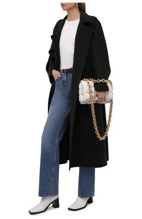Женское пальто из кашемира и шерсти THE ROW темно-зеленого цвета, арт. 5602W2033 | Фото 2 (Материал внешний: Шерсть, Кашемир; Рукава: Длинные; Стили: Кэжуэл; 1-2-бортные: Двубортные; Длина (верхняя одежда): Длинные)