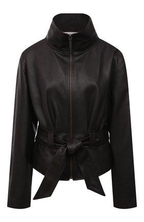 Женская кожаная куртка THE ROW темно-коричневого цвета, арт. 5665L210 | Фото 1
