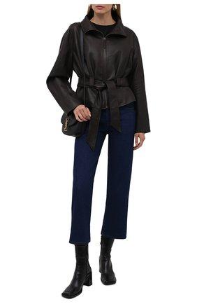 Женская кожаная куртка THE ROW темно-коричневого цвета, арт. 5665L210 | Фото 2