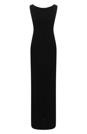 Женское платье THE ROW черного цвета, арт. 5619W1968 | Фото 1 (Материал внешний: Синтетический материал; Женское Кросс-КТ: Платье-одежда, Сарафаны; Случай: Повседневный; Стили: Кэжуэл; Длина Ж (юбки, платья, шорты): Макси)
