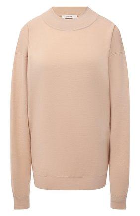 Женский шерстяной пуловер THE ROW бежевого цвета, арт. 5705Y478 | Фото 1