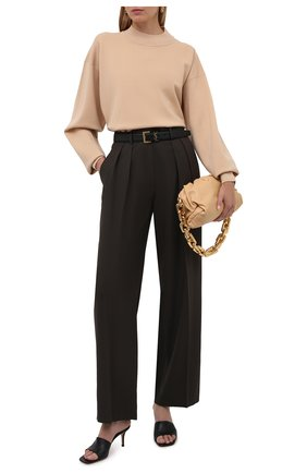Женский шерстяной пуловер THE ROW бежевого цвета, арт. 5705Y478 | Фото 2