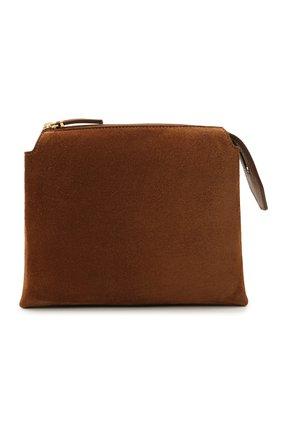 Женская сумка nu THE ROW коричневого цвета, арт. W1236L25 | Фото 1 (Материал: Натуральная кожа, Натуральная замша; Сумки-технические: Сумки через плечо; Размер: mini; Ремень/цепочка: На ремешке)