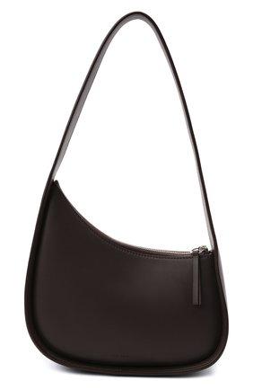 Женская сумка half moon THE ROW темно-коричневого цвета, арт. W1249L52 | Фото 1 (Материал: Натуральная кожа; Сумки-технические: Сумки top-handle; Размер: mini)