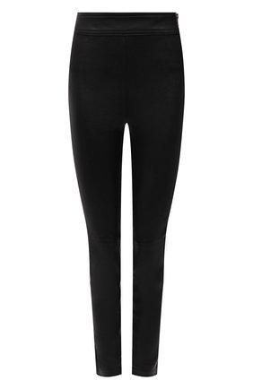 Женские кожаные леггинсы HELMUT LANG черного цвета, арт. K01HW208 | Фото 1