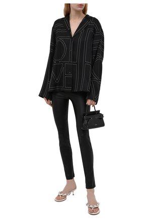 Женские кожаные леггинсы HELMUT LANG черного цвета, арт. K01HW208 | Фото 2