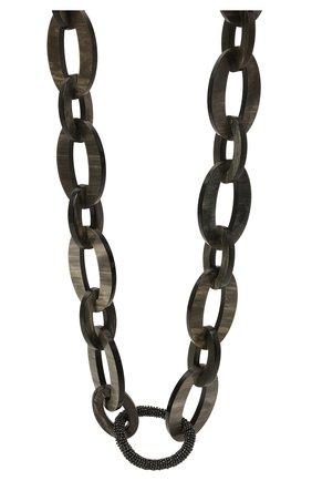 Женское колье BRUNELLO CUCINELLI серого цвета, арт. MC0W9G273P   Фото 2