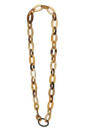 Женское колье BRUNELLO CUCINELLI коричневого цвета, арт. MC0W9G273P   Фото 1