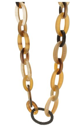 Женское колье BRUNELLO CUCINELLI коричневого цвета, арт. MC0W9G273P   Фото 2
