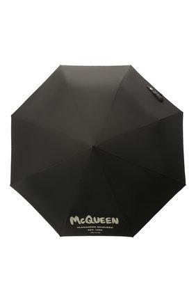 Женский зонт ALEXANDER MCQUEEN черного цвета, арт. 668707/3A71Q   Фото 1 (Материал: Текстиль, Синтетический материал)