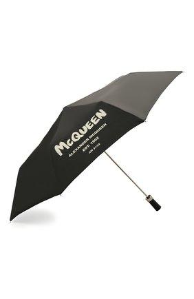 Женский зонт ALEXANDER MCQUEEN черного цвета, арт. 668707/3A71Q   Фото 2 (Материал: Текстиль, Синтетический материал)