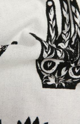 Женский шарф из шерсти и кашемира ALEXANDER MCQUEEN черно-белого цвета, арт. 665281/3D46Q | Фото 2 (Материал: Шерсть)