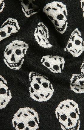 Женский шерстяной шарф ALEXANDER MCQUEEN черно-белого цвета, арт. 624425/3200Q | Фото 2 (Материал: Шерсть)