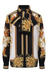 Женская шелковая блузка VERSACE разноцветного цвета, арт. 1001357/1A01171   Фото 1