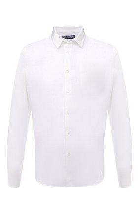 Мужская льняная рубашка VILEBREQUIN белого цвета, арт. CRSP601P/010 | Фото 1