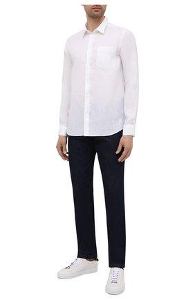 Мужская льняная рубашка VILEBREQUIN белого цвета, арт. CRSP601P/010 | Фото 2