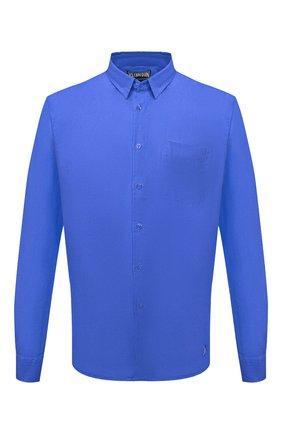 Мужская льняная рубашка VILEBREQUIN синего цвета, арт. CRSE9U00/314 | Фото 1