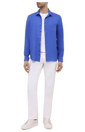 Мужская льняная рубашка VILEBREQUIN синего цвета, арт. CRSE9U00/314 | Фото 2