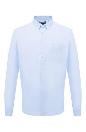 Мужская льняная рубашка VILEBREQUIN голубого цвета, арт. CRSH9U10/330 | Фото 1