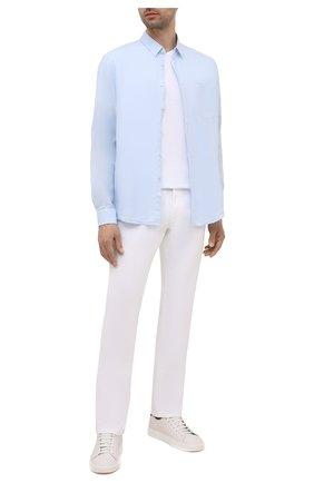 Мужская льняная рубашка VILEBREQUIN голубого цвета, арт. CRSH9U10/330 | Фото 2