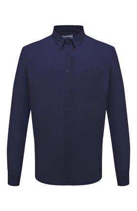 Мужская льняная рубашка VILEBREQUIN темно-синего цвета, арт. CRSP601P/390 | Фото 1