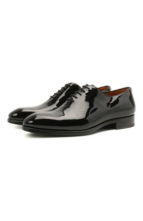 Мужские кожаные оксфорды MAGNANNI черного цвета, арт. 21223/CHAR0L | Фото 1