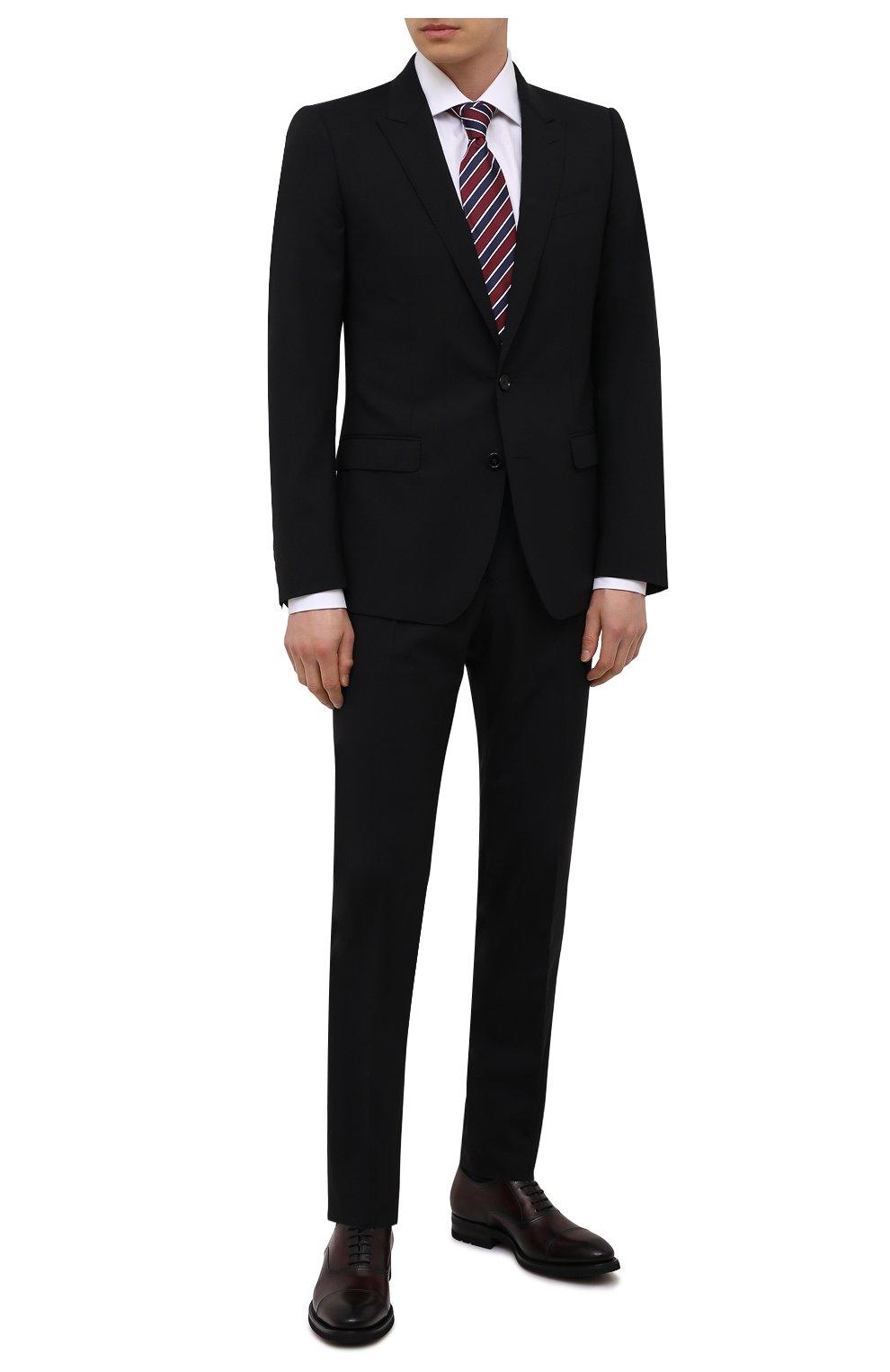 Мужские кожаные оксфорды MAGNANNI бордового цвета, арт. 21252/B0LTIARCADE   Фото 2 (Материал внутренний: Натуральная кожа; Стили: Классический)