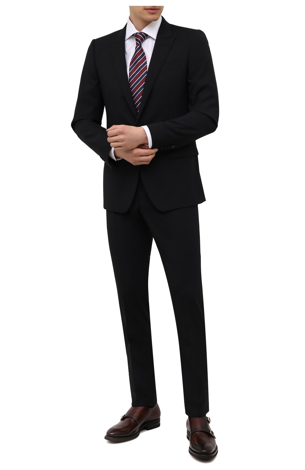 Мужские кожаные монки MAGNANNI коричневого цвета, арт. 21253/B0LTIARCADE | Фото 2 (Материал внутренний: Натуральная кожа; Стили: Классический)