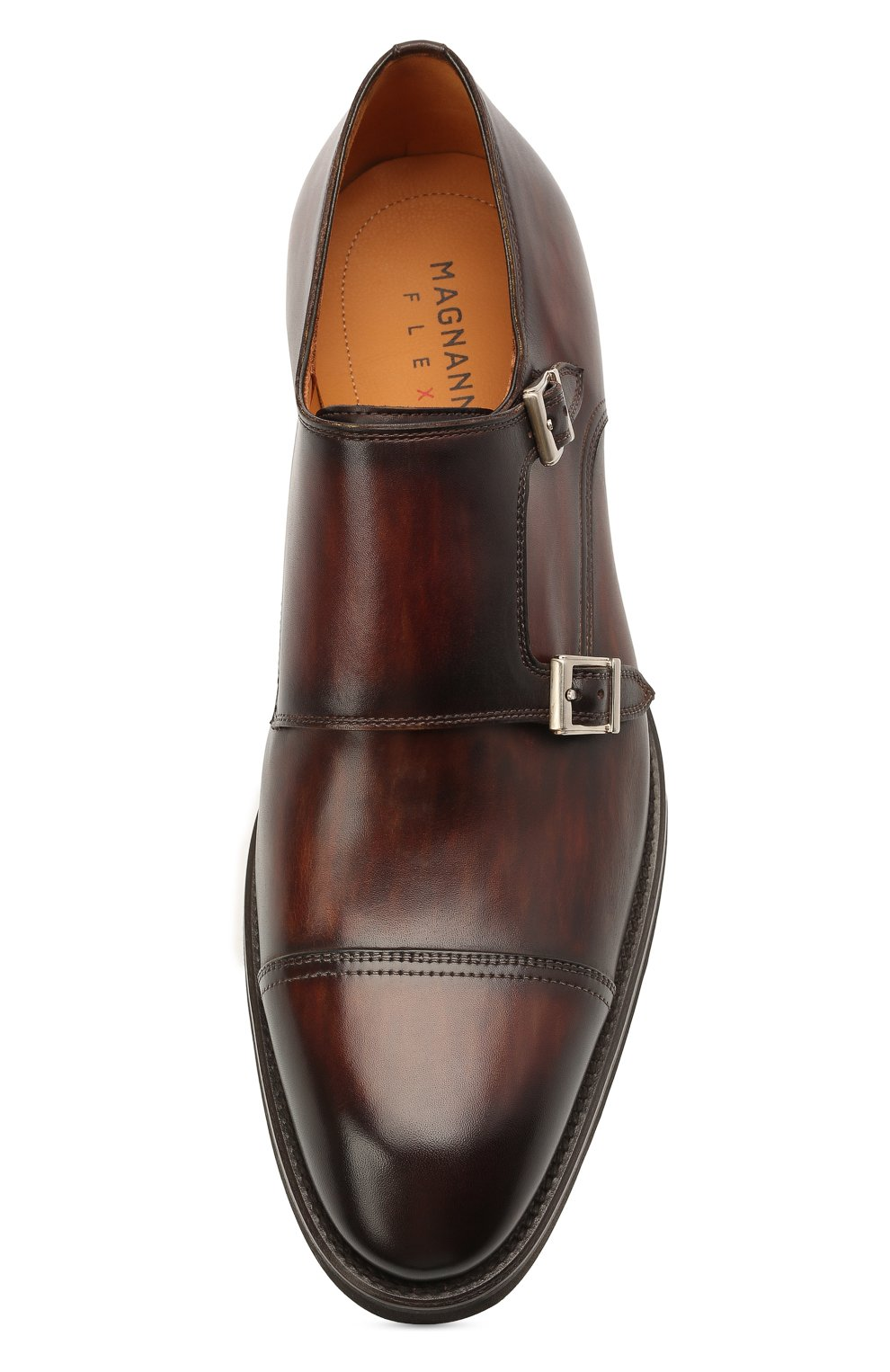 Мужские кожаные монки MAGNANNI коричневого цвета, арт. 21253/B0LTIARCADE | Фото 5 (Материал внутренний: Натуральная кожа; Стили: Классический)