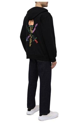 Мужской хлопковая толстовка OPENING CEREMONY черного цвета, арт. YMBE001S21FLE001   Фото 2