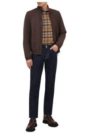 Мужские кожаные дерби BERLUTI коричневого цвета, арт. S5534-001 | Фото 2