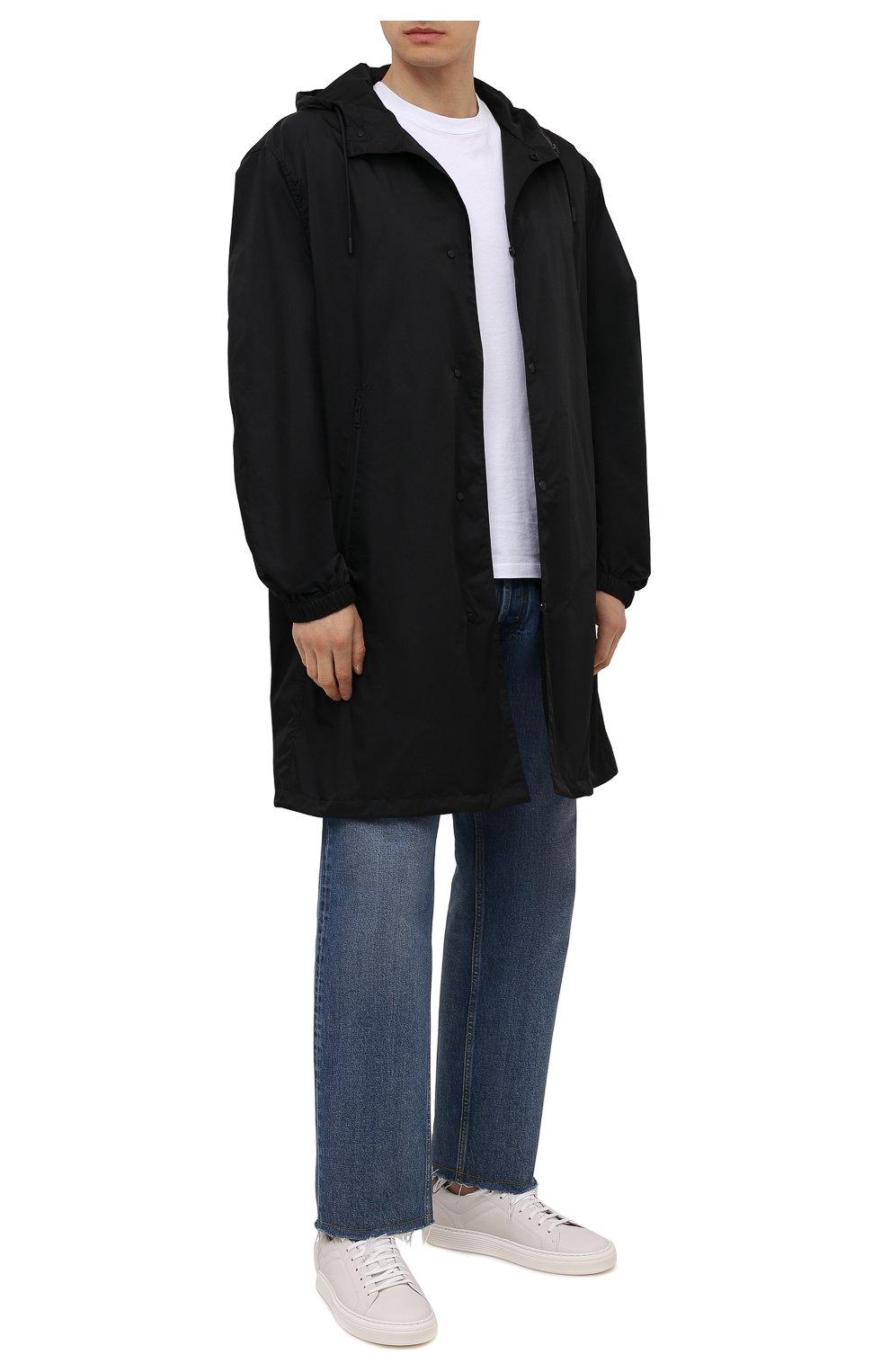 Мужские кожаные кеды BRUNELLO CUCINELLI белого цвета, арт. MZUBLBJ264   Фото 2 (Материал внутренний: Натуральная кожа; Подошва: Массивная)