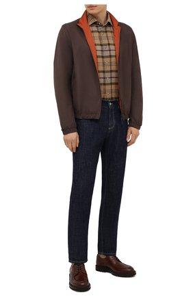 Мужские кожаные дерби BRUNELLO CUCINELLI коричневого цвета, арт. MZUCHRG814 | Фото 2 (Материал внутренний: Натуральная кожа; Стили: Классический)