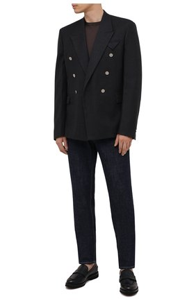 Мужские кожаные пенни-лоферы BARRETT темно-синего цвета, арт. 191U048.31/RAM0N | Фото 2