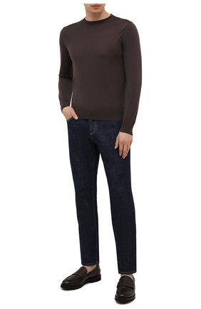 Мужские кожаные пенни-лоферы BARRETT темно-коричневого цвета, арт. 191U048.32/RAM0N | Фото 2 (Материал внутренний: Натуральная кожа; Мужское Кросс-КТ: Лоферы-обувь; Стили: Классический)