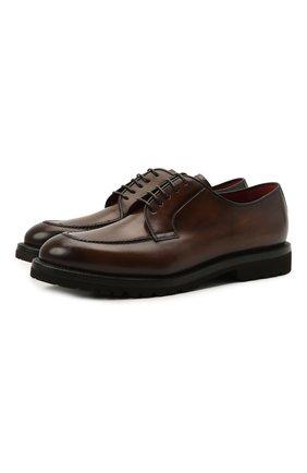 Мужские кожаные дерби BARRETT коричневого цвета, арт. 192U003.45/BETIS CREAM | Фото 1 (Материал внутренний: Натуральная кожа; Стили: Классический)