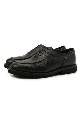Мужские кожаные оксфорды BARRETT черного цвета, арт. 202U029.26/RAM0N | Фото 1 (Стили: Классический)