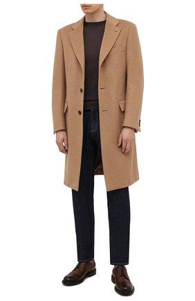 Мужские кожаные дерби BARRETT коричневого цвета, арт. 202U038.5/RIX0N | Фото 2 (Материал внутренний: Натуральная кожа; Стили: Классический; Мужское Кросс-КТ: Броги-обувь)
