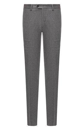 Мужские брюки из шерсти и кашемира MARCO PESCAROLO серого цвета, арт. SLIM80/ZIP/4431 | Фото 1