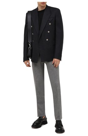 Мужские брюки из шерсти и кашемира MARCO PESCAROLO серого цвета, арт. SLIM80/ZIP/4431 | Фото 2