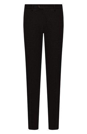 Мужские брюки из шерсти и кашемира MARCO PESCAROLO темно-коричневого цвета, арт. SLIM80/ZIP/4431 | Фото 1