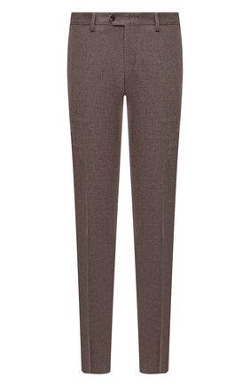 Мужские брюки из шерсти и кашемира MARCO PESCAROLO светло-коричневого цвета, арт. SLIM80/ZIP/4431 | Фото 1