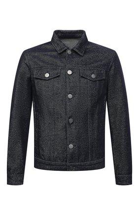 Мужская джинсовая куртка GIORGIO ARMANI темно-синего цвета, арт. 6KSB63/SD1FZ | Фото 1 (Материал внешний: Хлопок; Рукава: Длинные; Материал подклада: Синтетический материал; Длина (верхняя одежда): Короткие; Стили: Кэжуэл; Кросс-КТ: Куртка)
