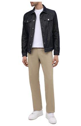 Мужская джинсовая куртка GIORGIO ARMANI темно-синего цвета, арт. 6KSB63/SD1FZ | Фото 2 (Материал внешний: Хлопок; Рукава: Длинные; Материал подклада: Синтетический материал; Длина (верхняя одежда): Короткие; Стили: Кэжуэл; Кросс-КТ: Куртка)